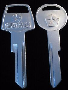 1957-1958 MOPAR Pentastar KEY blank SET Plymouth Dodge Chrysler Desoto Imperial