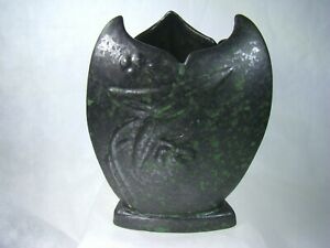 WELLER Pottery Rare Tutone Vase with WELSON Pottery COPPERTONE Glaze 1920's