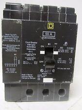 * SQUARE D EDB34050SA W/ SHUNT TRIP 50 AMP 3 POLE  CIRCUIT BREAKER ..... WI-175
