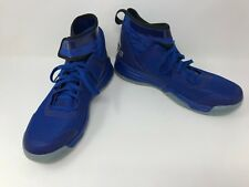New! Boys Youth adidas D69640 Dual Threat Basketball Shoes Royal Blue/Silver G11