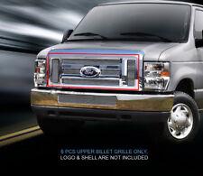 Polished Upper Billet Grille Grill  For Ford Econoline Van/E-series 2008-2014