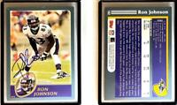 Ron Johnson Signed 2003 Topps #182 Card Baltimore Ravens Auto Autograph