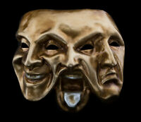 Mask from Venice 3 Faces Golden Authentic IN Paper Mache 550