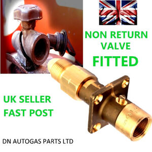 UK Bayonet LPG Filling Point to propane Gas BOTTLE Adapter WITH NON RETURN VALVE