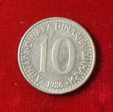 Münze Coin Jugoslawien Jugoslavija 10 Dinar Dinara 1986 (H8)