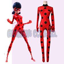 Girls Miraculous Ladybug Marinette Dupain Cheng Cosplay Costume Outfit Xmas gift