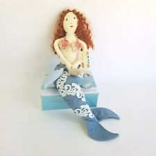 New ListingCracker Barrel Mermaid Shelf Sitter Blue Beach Nautical Decor