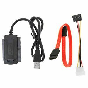 Câble USB vers SATA/PATA/IDE Adaptateur d'alimentation lecteur disque dur DVD