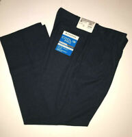 Haggar Cool 18 Pro Golf Pants Classic 4 Way Stretch Pleat Expand Waist Navy Blue