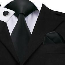 USA Solid Plain Classic Hi Tie 20 Colors 100% Silk  Men's Necktie Neck Tie F&S