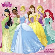 Walt Disney Princess Animation Art 16 Month 2018 Wall Calendar, New Sealed