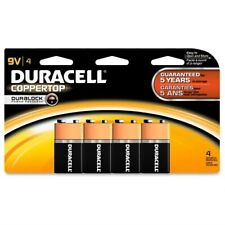 BRAND NEW DURACELL 9 Volt CopperTop 4-Pack (Four 9 Volt Batteries) expired 2018