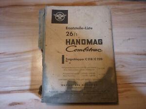 original Ersatzteileliste Ersatzteile Liste Hanomag Combitrac C 218 und C 220