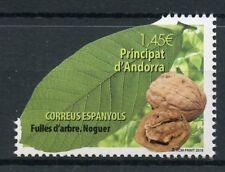 Andorra Spagnola 2018 Gomma integra, non linguellato albero Le foglie di noce 1v Set Alberi Natura FRANCOBOLLI