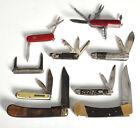 Vtg Folding Pocket Knife Lot of 9 Wenger Imperial Cornwall Buck Bassett
