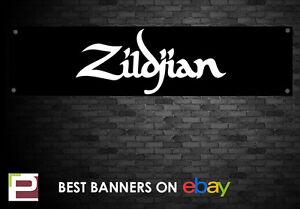 Zildjian Symbol Banner, for Rehearsal Room, Studio, Garage, Shop,