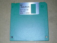 "Vintage Computing.   Radioshack Floppy Disk. 3 1/2""  1.44 MB. DS HD. Green. NOS."
