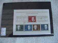 """Bund/ BRD 1959 Mi-Nr.: 315-319 Blockausgabe 2 """"Einweihung der Beethovenhalle """""""