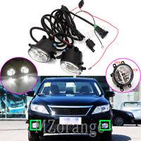 2x LED Fog Light Lamp Wiring Kits For Lexus CT ES GS IS LX NX RX HS 570 350 200T