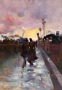 Charles Conder - Going home (The Gray and Gold), Australian Art, Canvas Print