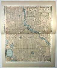Original 1903 Map of Minneapolis, Minnesota by Dodd Mead & Company