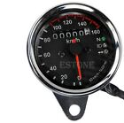 Universal Motorcycle LED Backlight Dual Odometer KMH Speedometer Gauge Signal