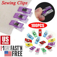 100PCS Plastic Sewing Clips Clamp for Craft Quilting Sewing Knitting Crochet USA