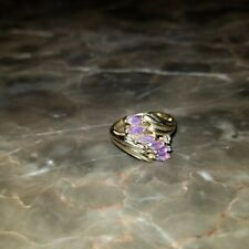 Amethyst Marquise Cut w/ Diamond Accent 14kt Yellow Gold Ring Samuel Aaron THL