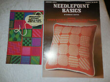 2 Vintage Needlepoint Learn To Books Leaflets Stitches Look
