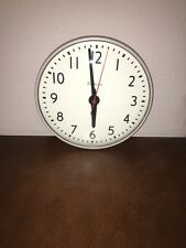 VINTAGE SIMPLEX Glass Dome Industrial School Wall Clock 13""