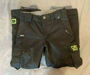 Burton Exile Cargo Fully Insulated Boy's Snowboard Pants Black Size Large 10-12