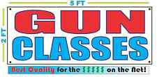 GUN CLASSES Full Color Banner Sign NEW XXXL Best Quality for the $$$