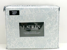 Ralph Lauren Twin Sheet Set White Blue Floral New in Package!