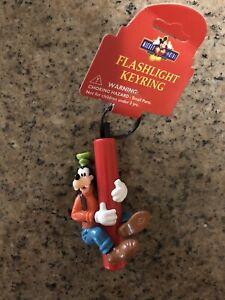 Vintage Disney GOOFY Keychain Keyring Monogram 90s Flashlight Not Working - NEW
