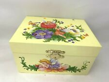 Jewelry Music Box Fairy Flowers Ladybug Mint Cond. Yellow Fairy Princess Gift