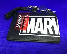 MARVEL Black Document IC Card Case With Retractable Lanyard Marvel Disney