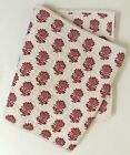 Williams-Sonoma? Quilted Table Runner Red & White Floral Print 16