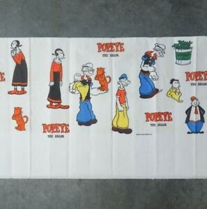 Rare Vintage Mid 20c Children's Party Popeye The Sailor Man Paper Tablecloth