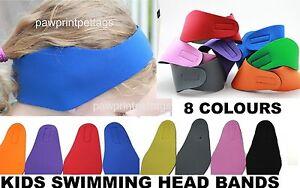 Children's Swimming Ear Head Band Neoprene Wetsuit Kids Head Bands Swimming