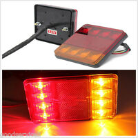 PAIR LED TRUCK TRAILER STOP REAR TAIL TURN LIGHT INDICATOR LAMP FULLY WATERPROOF
