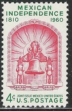 Scott 1157- Mexican Independence, Bell- Joint Issue- MNH 1960- mint unused stamp