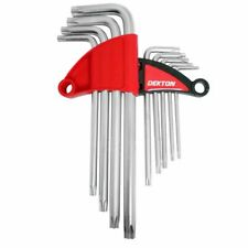 Torx Key Set Extra Long 9 piece includes handy keyholder