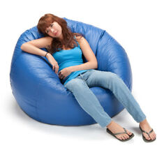 "Bean Bag Chair 132"" Blue Bedroom Extra Large Chair Comfort Shiny Round Bags New"