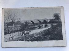 Crathie Bridge , Meigle . Postcard