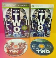 Army of Two 2 + 40th Day - MicroSoft XBOX 360 Game Lot Tested Works