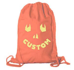 Happy Jack O Lantern Custom Bags, Halloween Treats Bags, Funny Party Cotton Bags