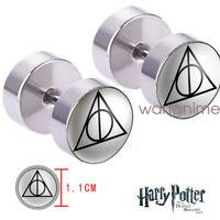 Harry Potter Deathly Hallows Women Men Earrings Ear Stud 1pair Cosplay Gift