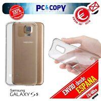 Funda gel TPU flexible 100% transparente para SAMSUNG Galaxy S5 SM-G900F-G900H