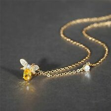 Bee Pendant Necklace For Woomen Gold Insect Chain Jewelry Korean Fashion Gift