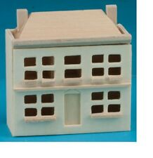 Dollhouse Miniatures 1:12 Scale Doll's Doll House, Unfinished #CLA08680